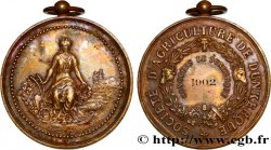 TROISIÈME RÉPUBLIQUE Médaille de la Société Agricole de Dunkerque