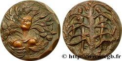 CINQUIÈME RÉPUBLIQUE Médaille Adam et Eve TTB+