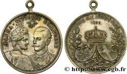 ITALIE - ROYAUME DITALIE - VICTOR-EMMANUEL III Médaillette de mariage de Victor Emanuel III & Hélène de Monténégro MBC