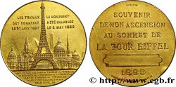 III REPUBLIC Médaille de l'ascension de la Tour Eiffel (sommet)
