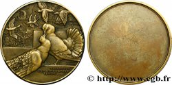 QUINTA REPUBLICA FRANCESA Médaille uniface aux pigeons