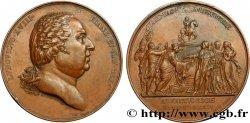 LUIS XVIII Médaille pour l'entrée de Louis XVIII à Paris