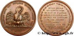 LOUIS XVI Médaille d'hommage de la Garde nationale à Louis XVI TB+