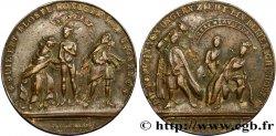 AUTRICHE - ROYAUME DE BOHÈME - MARIE-THÉRÈSE Médaille satyrique - Humiliation de Marie-Thérèse par Frédéric II