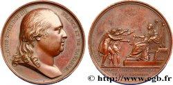 LOUIS XVIII Médaille pour la Charte constitutionnelle