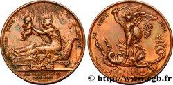 HENRI V COMTE DE CHAMBORD Médaille de naissance du futur comte de Chambord (Henri V)