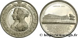 GREAT BRITAIN - VICTORIA Médaille du Crystal Palace - Couple royal