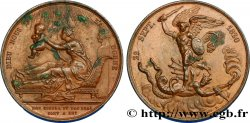 LOUIS XVIII Médaille de naissance du futur comte de Chambord (Henri V) XF