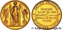 SECOND EMPIRE Médaille OR 43,5 attribuée a Jules Élie DELAUNAY, peintre, pour le salon de 1863