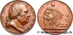 LOUIS XVIII Médaille pour le Canal Saint-Martin XF