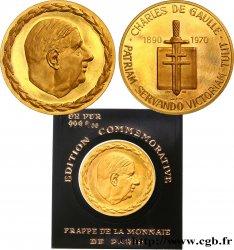 V REPUBLIC Médaille du Général De Gaulle AU