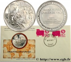 "THE GREAT EXPLORERS  MEDALS Enveloppe ""Timbre médaille"", Cabeza de Vaca explore le Mexique"