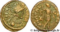 ROYAUME OSTROGOTH - ATHALARIC Bronze de 10 nummi, à la tête casquée