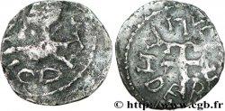 MEROVINGIAN COINS - indeterminate MINT Denier à la croix ancrée
