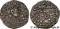 ENGLAND - ANGLO-SAXONS Sceat à la tête radiée, légende runique, Série C