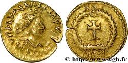 MONNAYAGE PSEUDO-IMPÉRIAL AU NOM DE VALENTINIEN III - WISIGOTHS OU BURGONDES Tremissis