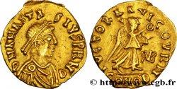 FRANKISCH KINGDOM OF BOURGOGNE, BURGONDES Triens à la victoire, monograme de GVNDOBALD
