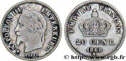 20 centimes Napoléon III, tête laurée, grand module 1868 Paris F.150/4 B  10