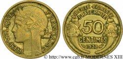 50 centimes Morlon, sans raisin ni fruit, 9 et 2 fermés 1932  F.192/9 VF35