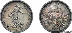 Piéfort argent de 5 francs Semeuse, nickel 1971 Paris F.341/3 SPL64