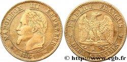 Deux centimes Napoléon III, tête laurée 1861 Bordeaux F.108A/3 TB35