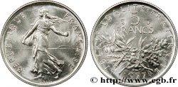 5 francs Semeuse, nickel 1977 Pessac F.341/9 MS67