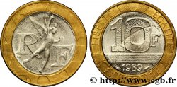 Faux de 10 francs Génie de la Bastille 1989 Pessac F.375/3 var. AU52