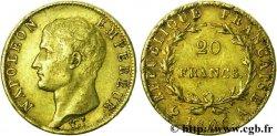 20 francs or Napoléon tête nue, Calendrier grégorien 1806 Paris F.513/1 XF45