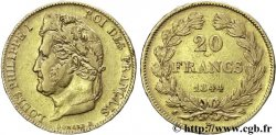20 francs or Louis-Philippe, Domard 1844 Lille F.527/32 XF48