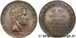 Essai module de 5 francs en cuivre 1839 Paris VG.2891 TTB50
