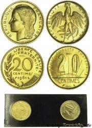 Boîte de 2 essais de 20 centimes 1961, Rousseau et Dieudonné 1961 Paris G.328 FDC  65