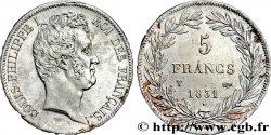 5 francs type Tiolier avec le I, tranche en creux 1831 Nantes F.315/26 AU50