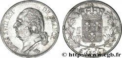 5 francs Louis XVIII, tête nue 1824 Paris F.309/86 XF48