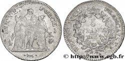 5 francs Union et Force, Union serré, seulement gland extérieur 1799 Bayonne/Paris F.294/31 TB35