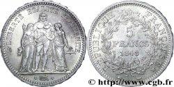 5 francs Hercule, IIe République 1848 Paris F.326/1 MS60