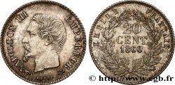 20 centimes Napoléon III, tête nue 1860 Paris F.148/14 SUP62