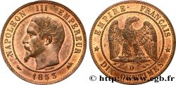 Dix centimes Napoléon III, tête nue 1853 Lyon F.133/5 SUP58