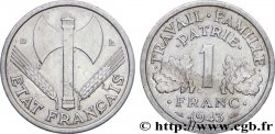 1 franc Francisque, légère 1943 Beaumont-Le-Roger F.223/4 AU52