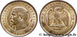 Dix centimes Napoléon III, tête nue 1856 Lille F.133/39 AU58