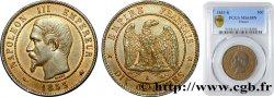 Dix centimes Napoléon III, tête nue 1853 Bordeaux F.133/7 PCGS MS63