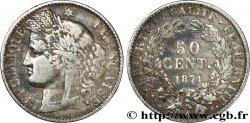50 centimes Cérès, IIIe République 1871 Paris F.189/1 TB20