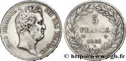 5 francs type Tiolier avec le I, tranche en creux 1831 Lille F.315/27 XF48