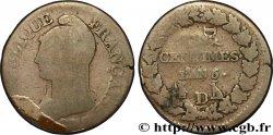 Cinq centimes Dupré, grand module, refrappage du décime 1797 Lyon F.114/6 G6