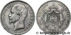 5 francs Napoléon III, tête nue 1856 Lyon F.330/9 AU50