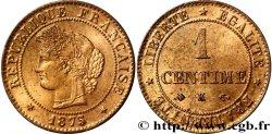 1 centime Cérès 1875 Bordeaux F.104/5 MS60