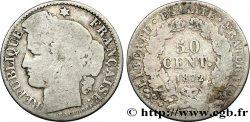 50 centimes Cérès, IIIe République 1872 Bordeaux F.189/4 B8