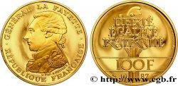 Belle Épreuve Or 100 francs - La Fayette 1987 Pessac F5.1603 2 FDC70