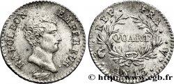 Quart (de franc) Napoléon Empereur, Calendrier révolutionnaire 1805 Paris F.158/8 SUP  58