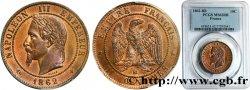 Dix centimes Napoléon III, tête laurée 1862 Strasbourg F.134/6 SUP62 PCGS