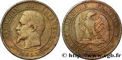 Dix centimes Napoléon III, tête nue 1853 Bordeaux F.133/7 S20